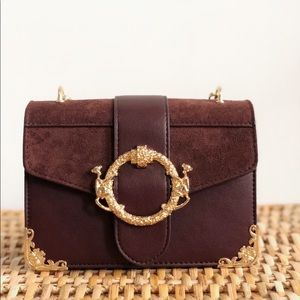 Handbags - Ellie Brown Vegan Faux Suede Handbag